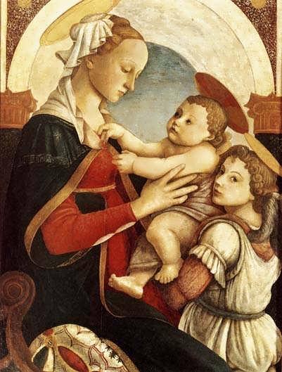 Botticelli_Madonnawithchildandanangel1