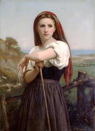 Bouguereau-Young_Shepherdess