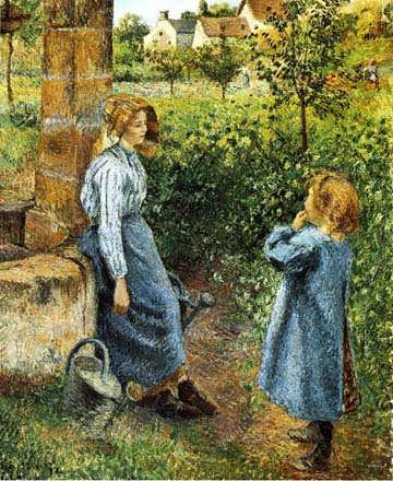 CamillePissarro-YoungWomanandChildattheWell