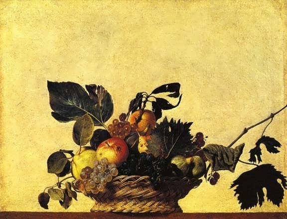 Caravaggio-StillLifewithaBasketofFruit