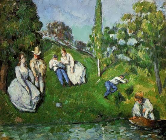 Cezanne-CouplesRelaxingbyaPond