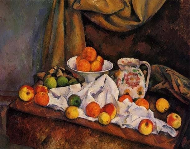 Cezanne-FruitBowlPitcherandFruit