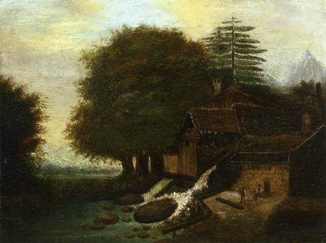 Cezanne-LandscapewithMill
