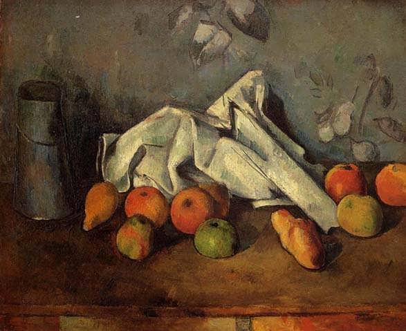 Cezanne-StillLifewithMilkCanandApples