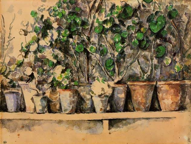 Cezanne-TheFlowerPots