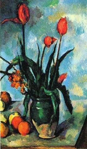 Cezanne-TulipsinaVase