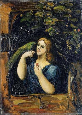 Cezanne-WomanwithParrot2