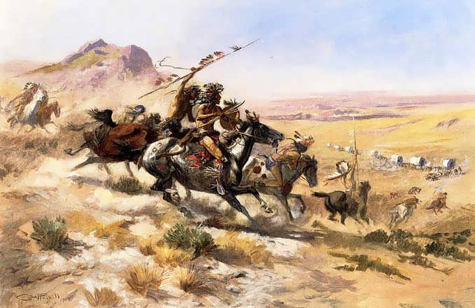 CharlesMarionRussell-AttackonaWagonTrain