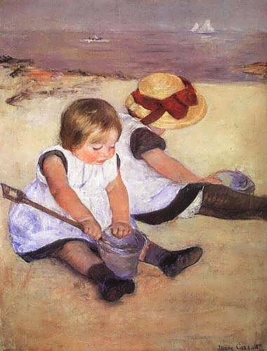 ChildrenPlayingOnTheBeach-MaryCassatt