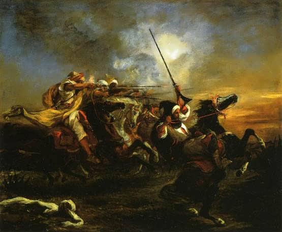Delacroix-MoroccanMilitaryExercises