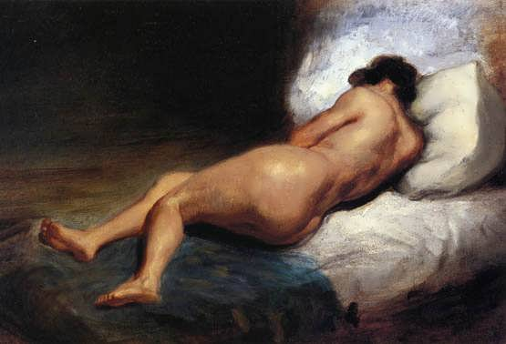 Delacroix-StudyofaRecliningNude