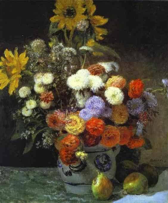 FlowersinaVaserenoir