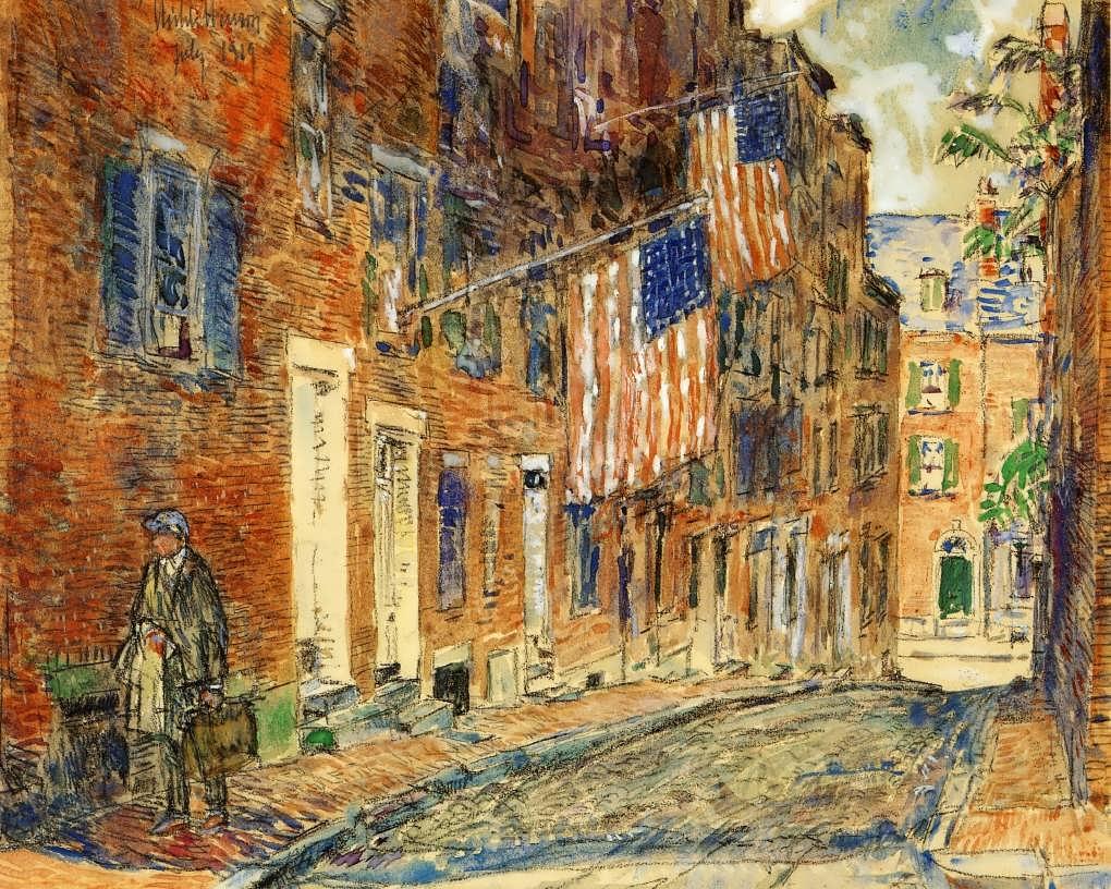 FrederickChildeHassam-AcornStreetBoston