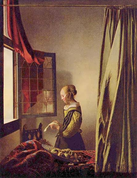 GirlReadingaLetteratanOpenWindow