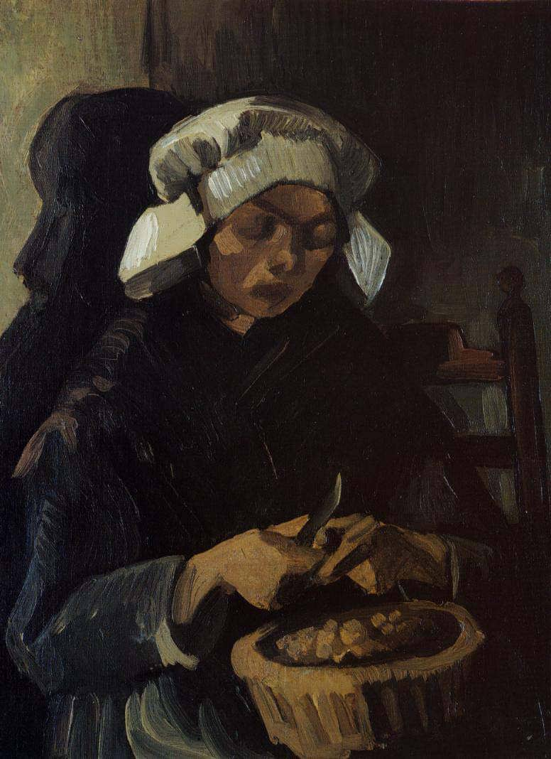 Gogh-PeasantWomanPeelingPotatoes1