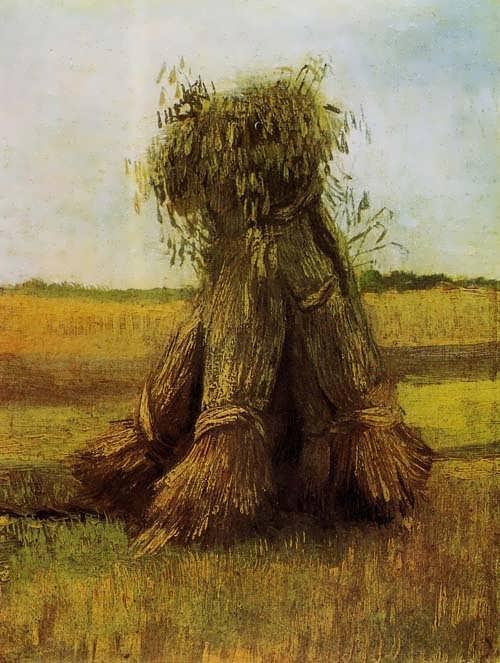 Gogh-SheavesofWheatinaField