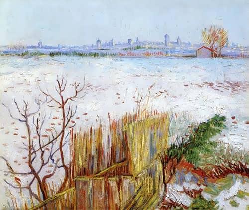 Gogh-SnowyLandscapewithArlesintheBackground