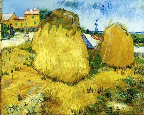 Gogh-StacksofWheatnearaFarmhouse