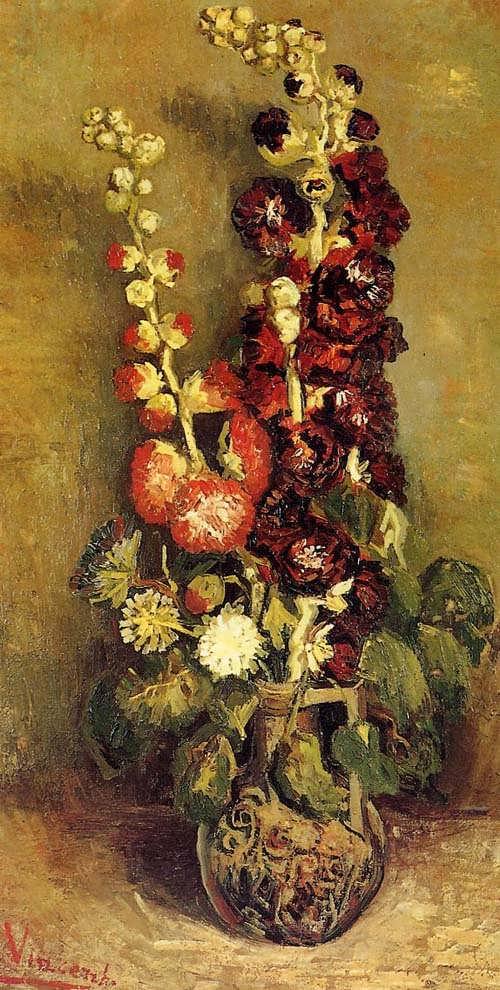Gogh-VasewithHolyhocks