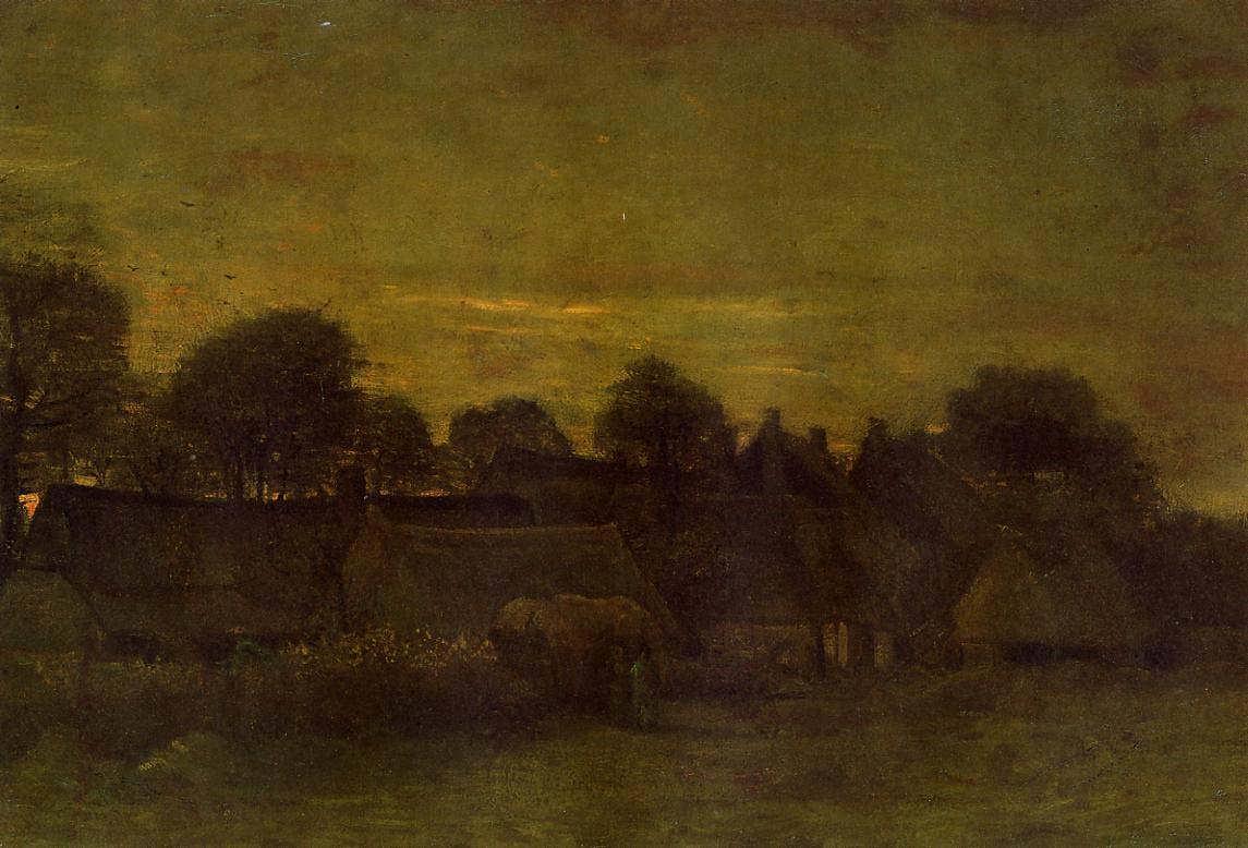 Gogh-VillageatSunset