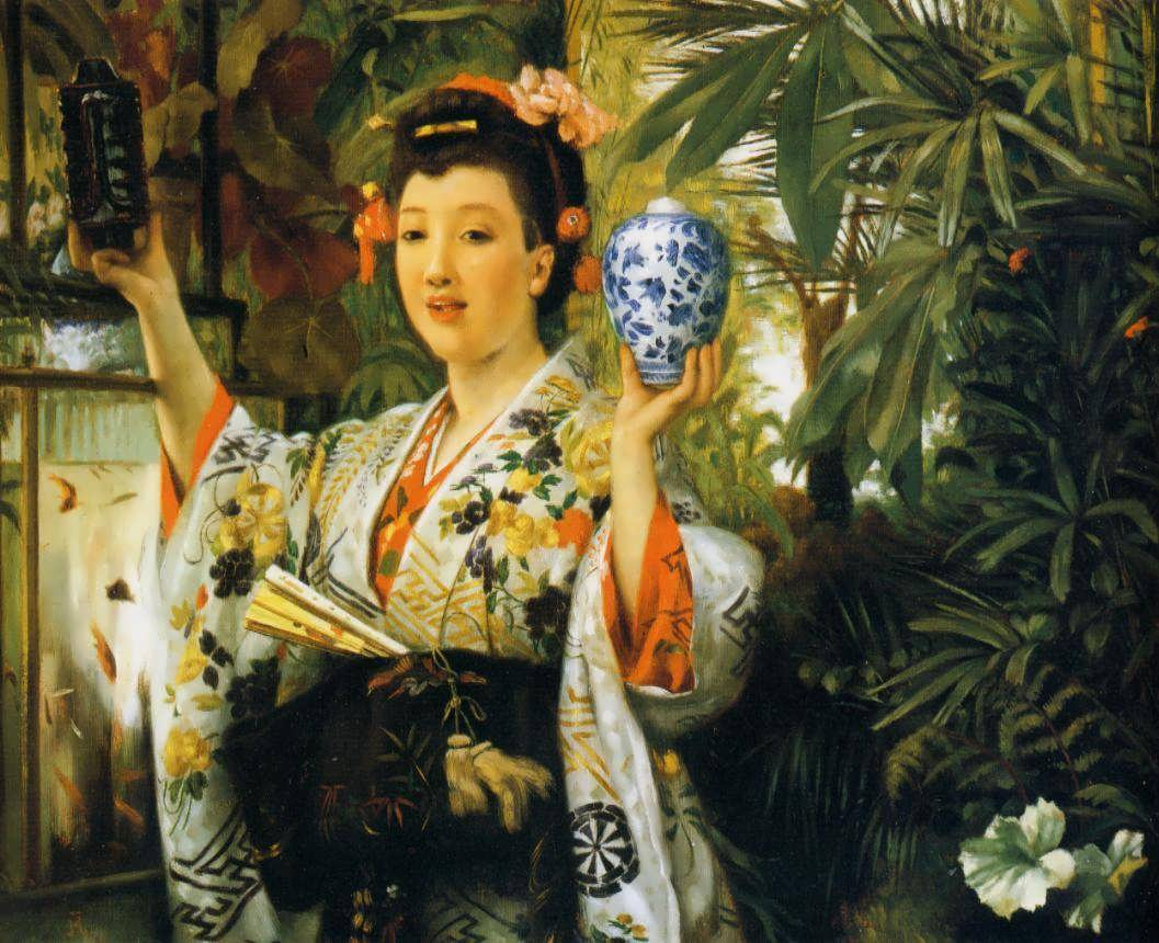 JamesTissot-YoungLadyHoldingJapaneseObjects