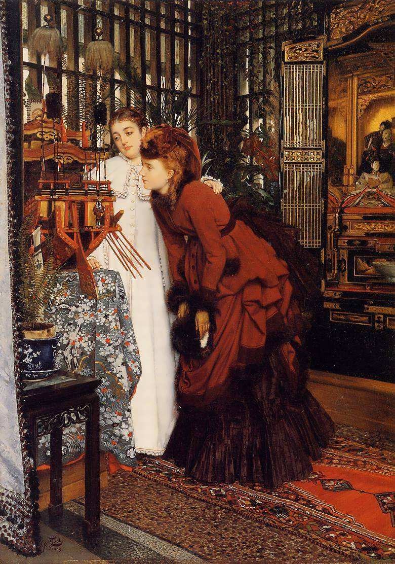 JamesTissot-YoungWomenLookingatJapaneseObjects