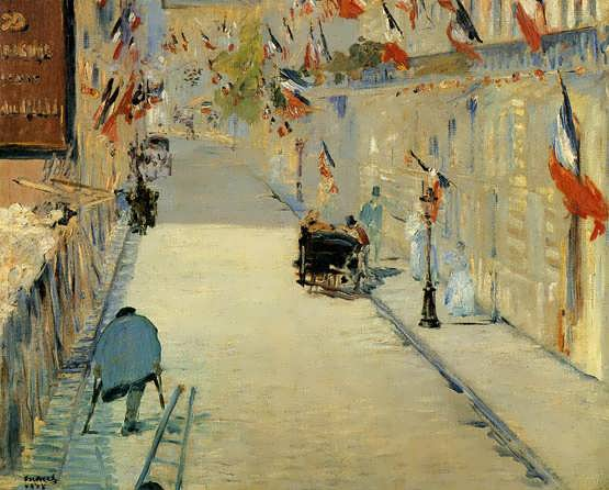 Manet-RueMosnierDecoratedwithFlagswithaManonCrutches