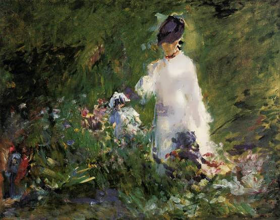 Manet-YoungWomanamongtheFlowers