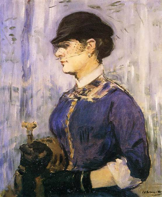 Manet-YoungWomaninaRoundHat