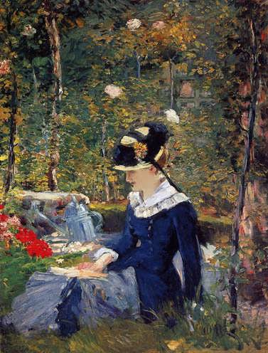 Manet-YoungWomanintheGarden1