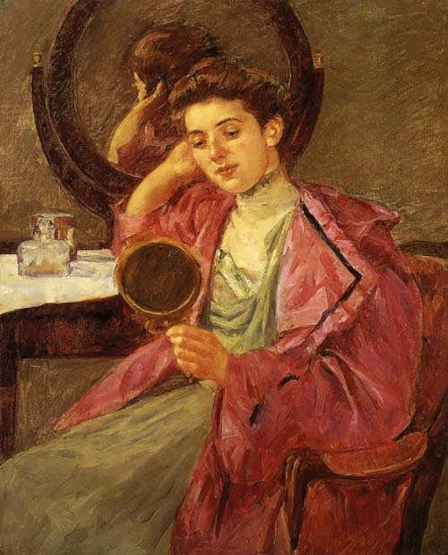MaryCassatt-AntoinetteatHerDressingTable