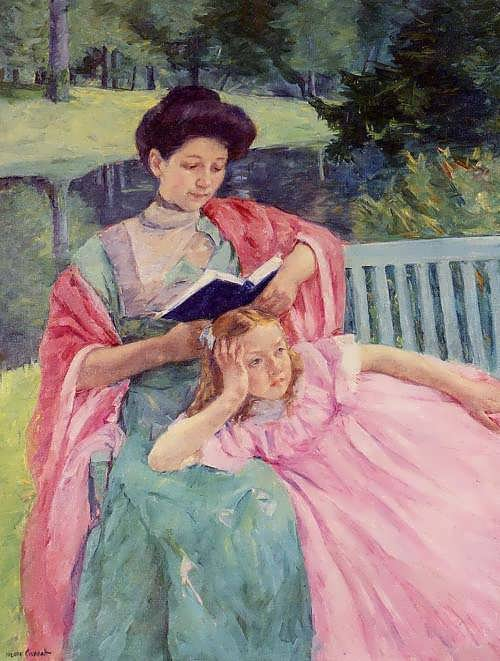 MaryCassatt-AugusteReadingtoHerDaughter