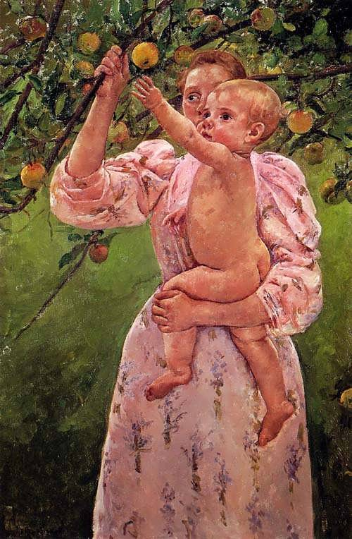 MaryCassatt-BabyReachingforanAppleakaChildPickingFruit