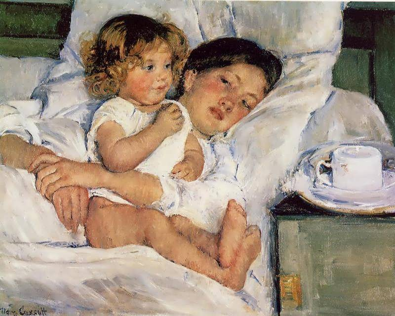 MaryCassatt-BreakfastinBed