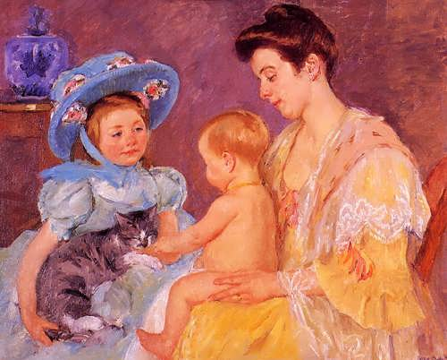 MaryCassatt-ChildrenPlayingwithaCat