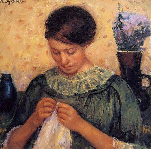 MaryCassatt-WomanSewing
