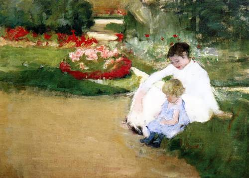 MaryCassatt-WomanandChildSeatedinaGarden