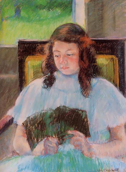 MaryCassatt-YoungGirlReading1