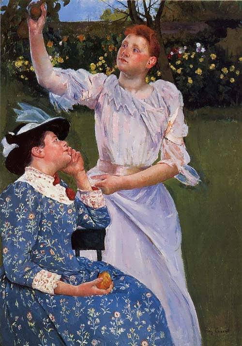 MaryCassatt-YoungWomanPickingFruit