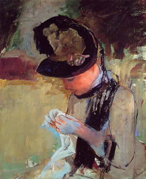 MaryCassatt-YoungWomanSewingintheGarden