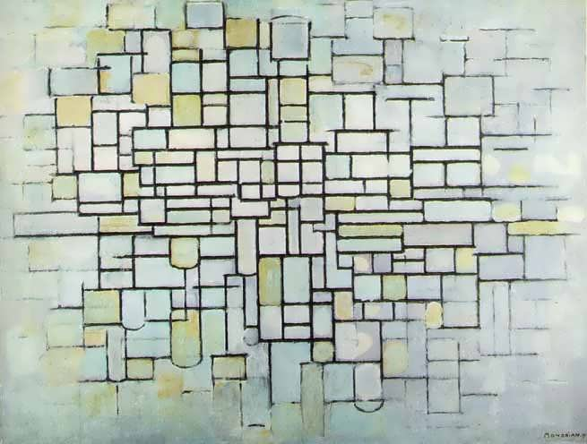 Mondrian_Composition_number_2_Composition_in_line_and_color_