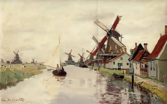Monet-WindmillsinHolland