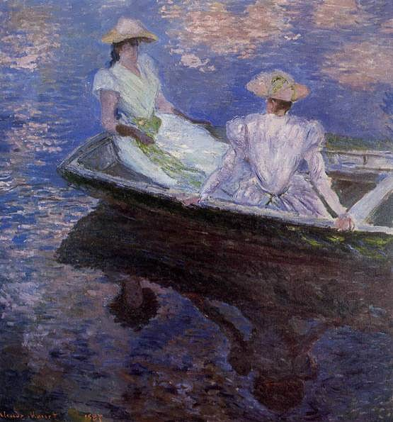 Monet-YoungGirlsinaRowBoat