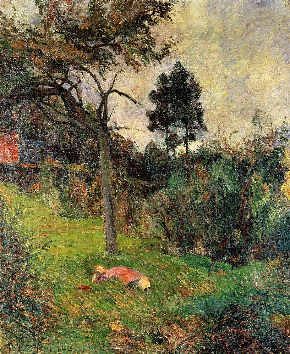 PaulGauguin-YoungWomanLyingintheGrass1