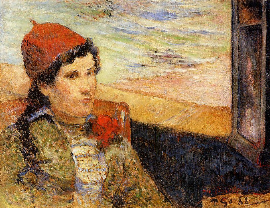 PaulGauguin-YoungWomanataWindow1