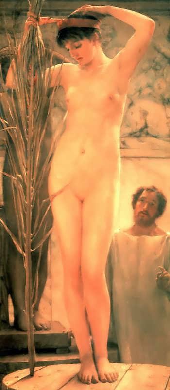 SirLawrenceAlma-Tadema-ASculptorsModelakaVenusEsquilina