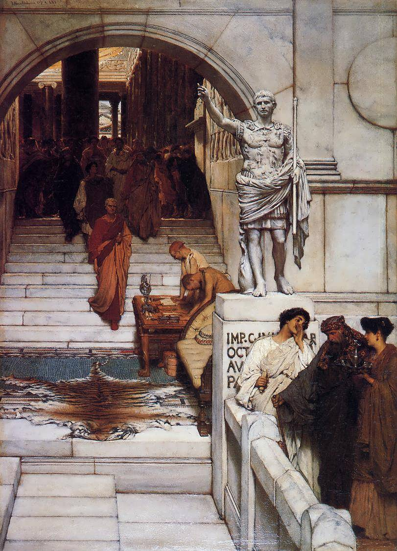 SirLawrenceAlma-Tadema-AnAudienceatAgrippas