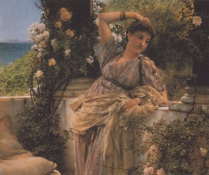 SirLawrenceAlma-Tadema-ThouRoseofAllRoses