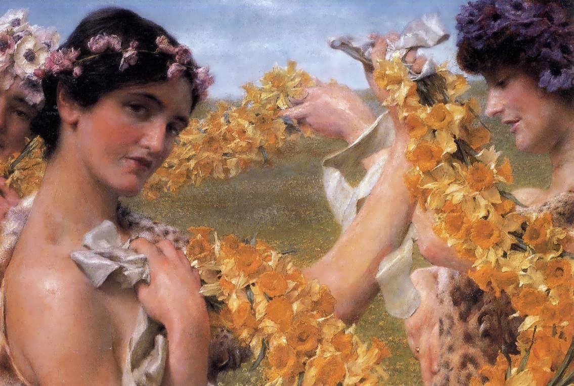 SirLawrenceAlma-Tadema-WhenFlowersReturn