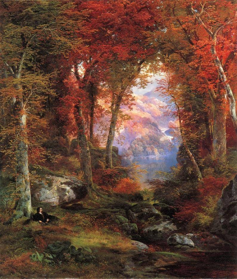 ThomasMoran-TheAutumnalWoodsakaUndertheTrees
